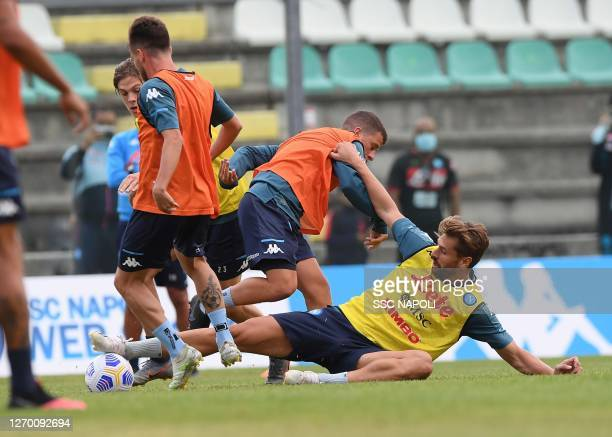 Fernando Llorente of Napoli during SSC Napoli Training Camp on September 01 2020 in Castel di Sangro Italy