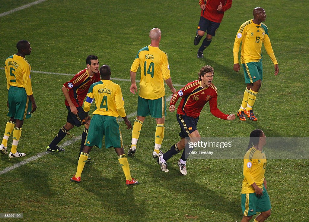 Spain v South Africa - FIFA Confederations Cup : News Photo