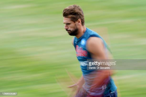Fernando Llorente of SSC Napoli during SSC Napoli Training Camp on August 25 2020 in Castel di Sangro Italy