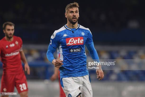 Fernando Llorente of SSC Napoli during the Serie A match between SSC Napoli and ACF Fiorentina at Stadio San Paolo Naples Italy on 18 January 2020