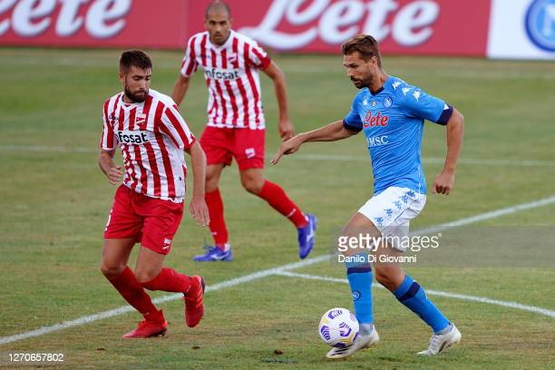 Fernando Llorente of SSC Napoli in action during the preseason friendly match between SSC Napoli and Teramo at Stadio Teofilo Patini on September 4...