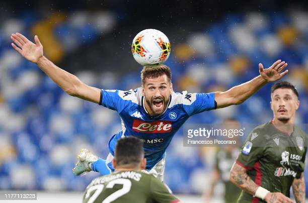Fernando Llorente of SSC Napoli in action during the Serie A match between SSC Napoli and Cagliari Calcio at Stadio San Paolo on September 25 2019 in...