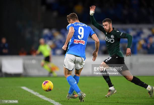 Fernando Llorente of SSC Napoli scores the 10 goal during the Serie A match between SSC Napoli and Bologna FC at Stadio San Paolo on December 01 2019...