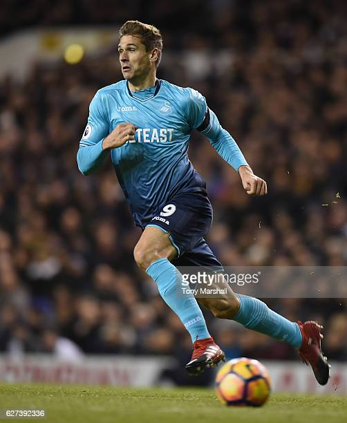 Fernando Llorente of Swansea City during the Premier League match between Tottenham Hotspur and Swansea City at White Hart Lane on December 3 2016 in...