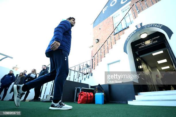 Fernando Llorente of Tottenham arrives during the Premier League match between Fulham FC and Tottenham Hotspur at Craven Cottage on January 20 2019...