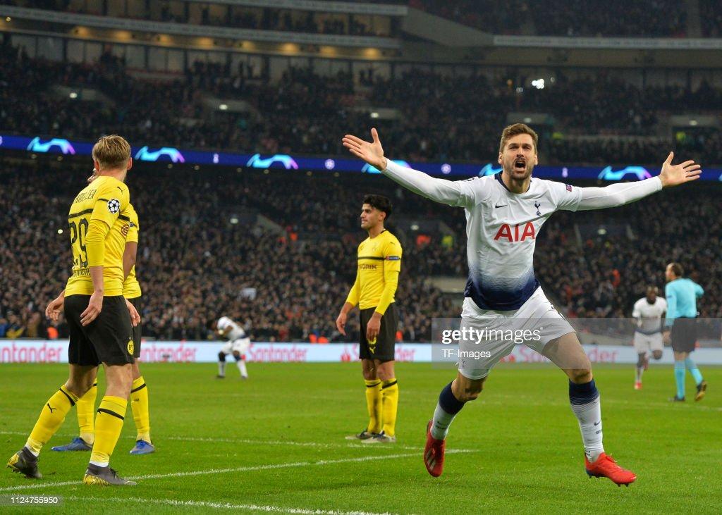 Tottenham Hotspur v Borussia Dortmund - UEFA Champions League Round of 16: First Leg : News Photo