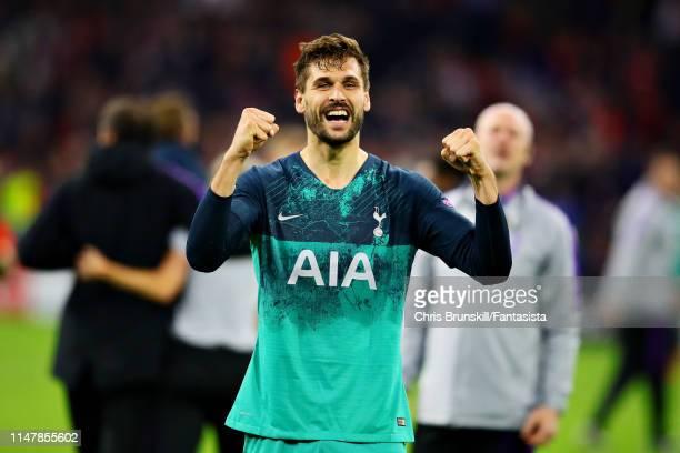 Fernando Llorente of Tottenham Hotspur celebrates his sides win after the UEFA Champions League Semi Final second leg match between Ajax and...