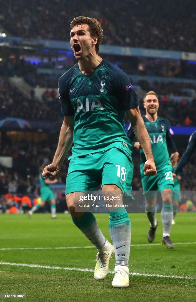 Manchester City v Tottenham Hotspur - UEFA Champions League Quarter Final second leg : ニュース写真
