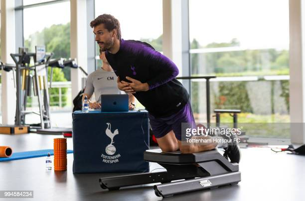 Fernando Llorente of Tottenham Hotspur during pre season training at Tottenham Hotspur Training Centre on July 9 2018 in Enfield England
