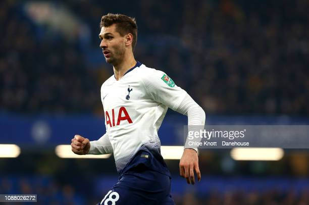 Fernando Llorente of Tottenham Hotspur in action during the Carabao Cup SemiFinal Second Leg match between Chelsea and Tottenham Hotspur at Stamford...