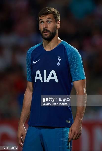 Fernando Llorente of Tottenham Hotspur looks on during the preseason friendly match between Girona and Tottenham Hotspur at Municipal de Montilivi...