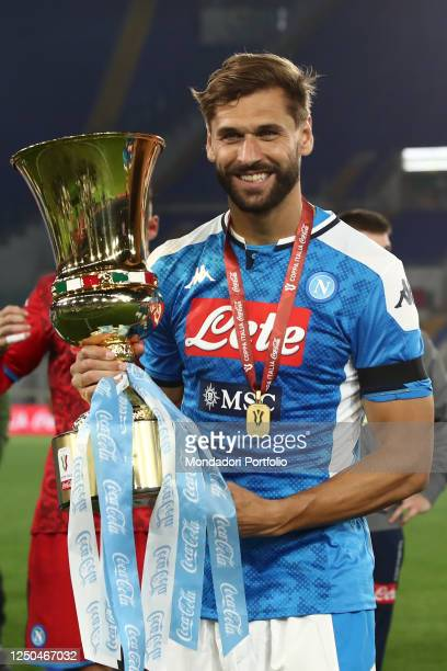Fernando Llorente with cup during Coppa Italia final between Napoli and Juventus in the olimpic stadium Rome June 17th 2020