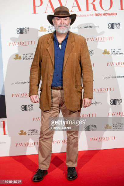 Fernando Lopez Mirones attends 'Pavarotti' premiere at Verdi Cinema on December 17 2019 in Madrid Spain