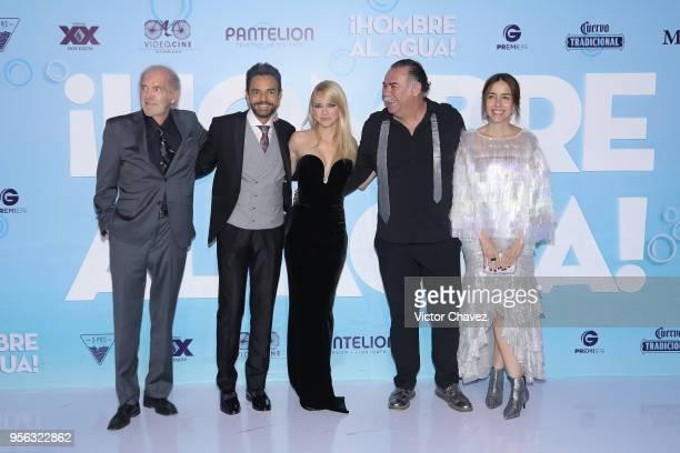 Fernando Lujan Eugenio Derbez Anna Faris Jesus Ochoa and Cecilia Suarez attend the Overboard Mexico City premiere at Cinemex Antara on May 8 2018 in...