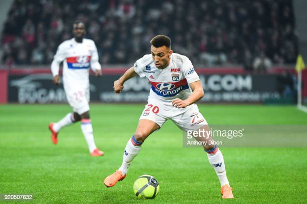 Fernando Marcal of Lyon during the Ligue 1 match between Lille OSC and Olympique Lyonnais at Stade Pierre Mauroy on February 18 2018 in Lille