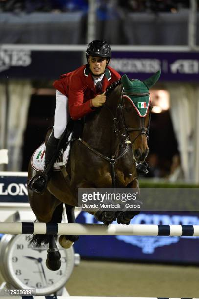 Fernando Martinez Sommer riding Cor Bakker of Mexico during Longines FEI Jumping Nations Cup Final Challenge Cup on October 5 2019 in Barcelona Spain