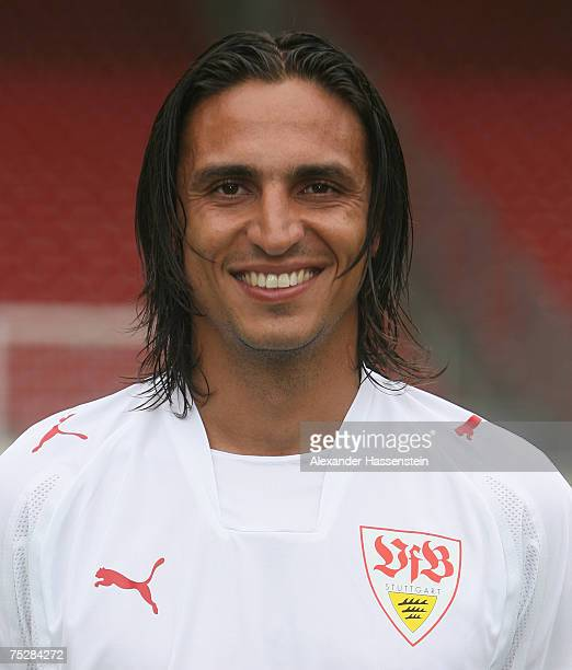 Fernando Meira of Stuttgart poses during the Bundesliga 1st Team Presentation of VfB Stuttgart at the GottliebDaimler stadium on July 9 2007 in...