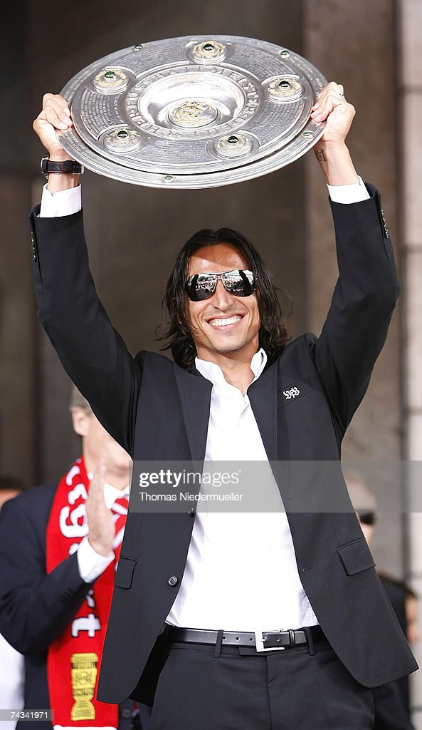 Fernando Meira of VfB Stuttgart arrives at the Stuttgart Fan Mile at the Cannstatter Wasen on May 27, 2007 in Stuttgart, Germany. Thousands of fans appeared to greet the team the day after they won the 2nd place DFB Cup 2007 match in Berlin.
