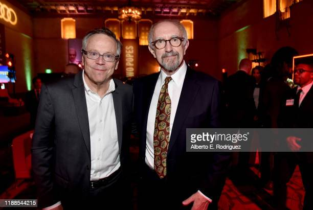 """Fernando Meirelles and Jonathan Pryce attend """"The Two Popes"""" premiere after party during AFI FEST 2019 presented by Audi at The Hollywood Roosevelt..."""