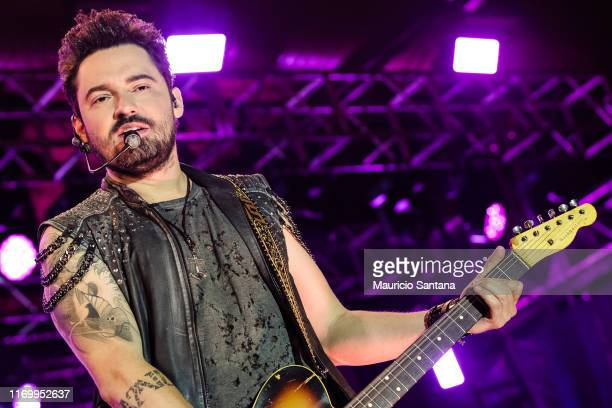 Fernando member of the duo Fernando and Sorocaba performs live on stage at Villa Country on September 21 2019 in Sao Paulo Brazil