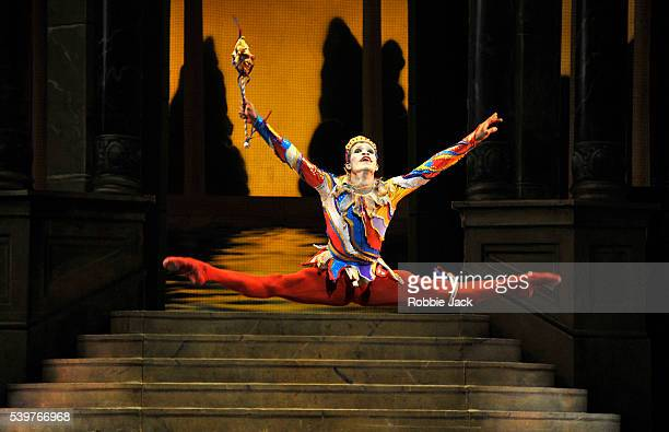Fernando Montano as the Jester in the Royal Ballet's production of Frederick Ashton's 'Cinderella' at the Royal Opera House Covent Garden