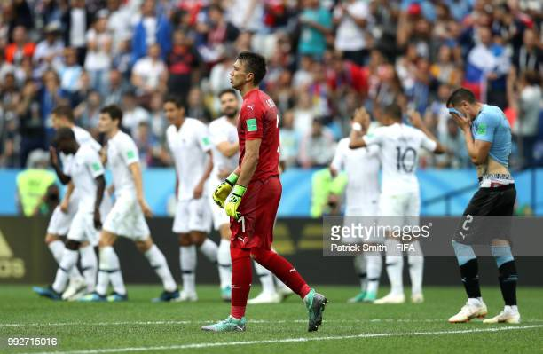 Fernando Muslera of Uruguay looks dejected following France scoring their second goal during the 2018 FIFA World Cup Russia Quarter Final match...