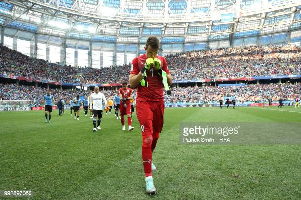 Fernando Muslera of Uruguay looks dejected following his sides defeat in the 2018 FIFA World Cup Russia Quarter Final match between Uruguay and...
