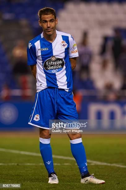 Fernando Navarro of Deportivo de La Coruna looks on after the Pre Season Friendly match between Deportivo de La Corua and West Bromwich Albion at...