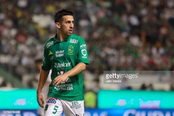 Fernando Navarro of Leon looks on during the 8th round match between Leon and Pumas UNAM as part of the Torneo Apertura 2018 Liga MX at Leon Stadium...