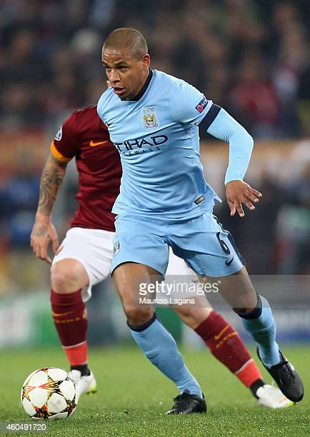 Fernando of Manchester City during the UEFA Champions League Group E match between AS Roma and Manchester City FC on December 10 2014 in Rome Italy