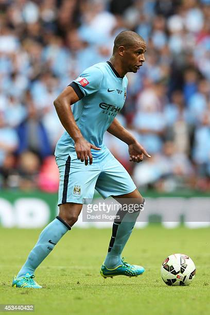 Fernando of Manchester City in action during the FA Community Shield match between Manchester City and Arsenal at Wembley Stadium on August 10 2014...