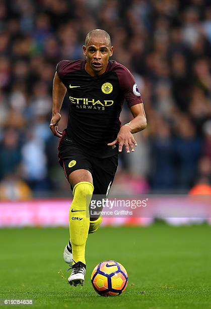 Fernando of Manchester City in action during the Premier League match between West Bromwich Albion and Manchester City at The Hawthorns on October 29...