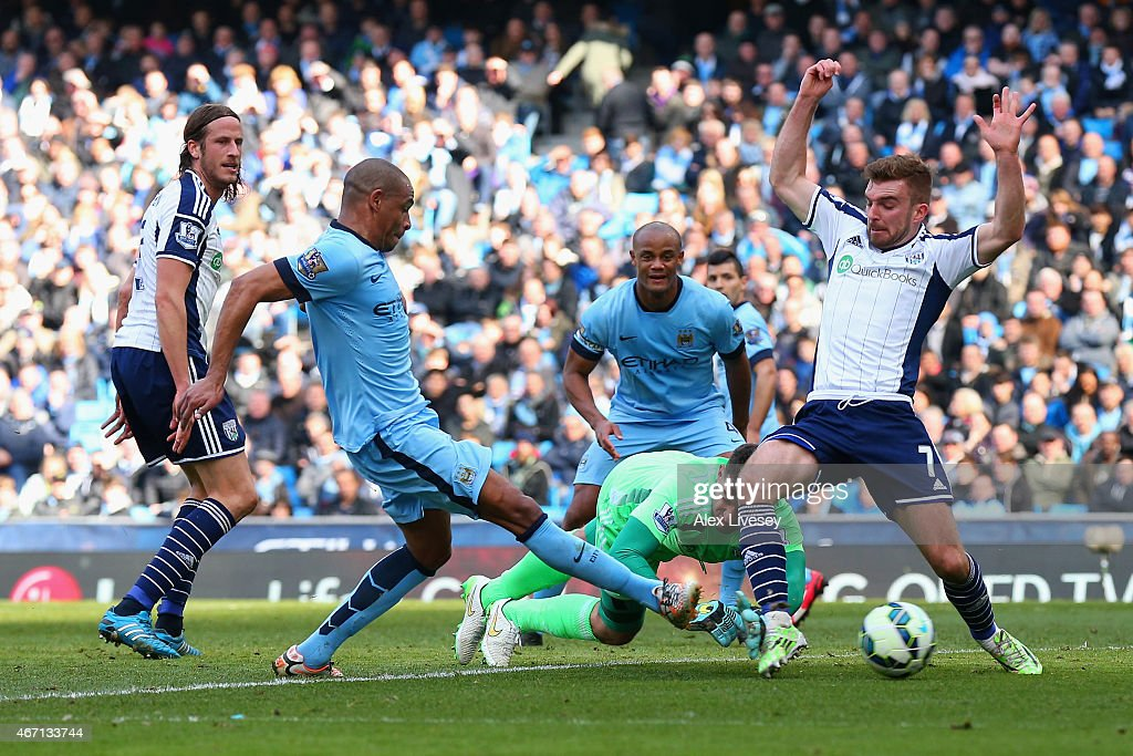 Manchester City v West Bromwich Albion - Premier League : News Photo