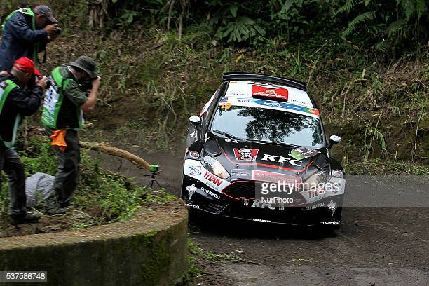 Fernando Peres and Jose Pedro Silva in Ford Fiesta R5 of Peres Competicoes during the shakedow of the FIA ERC Azores Airlines Rallye 2016 in Ponta...