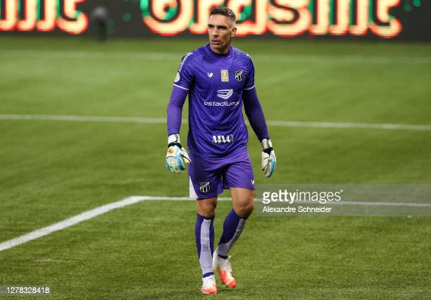 Fernando Prass, goealkeeper of Ceara looks on during the match against Palmeiras as part of Brasileirao Series A at Allianz Parque on October 03,...