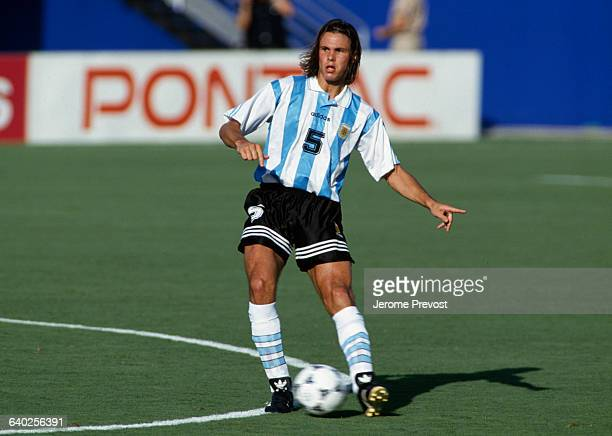 Fernando Redondo in action during a first round match of the 1994 FIFA World Cup against Bulgaria Bulgaria won 20