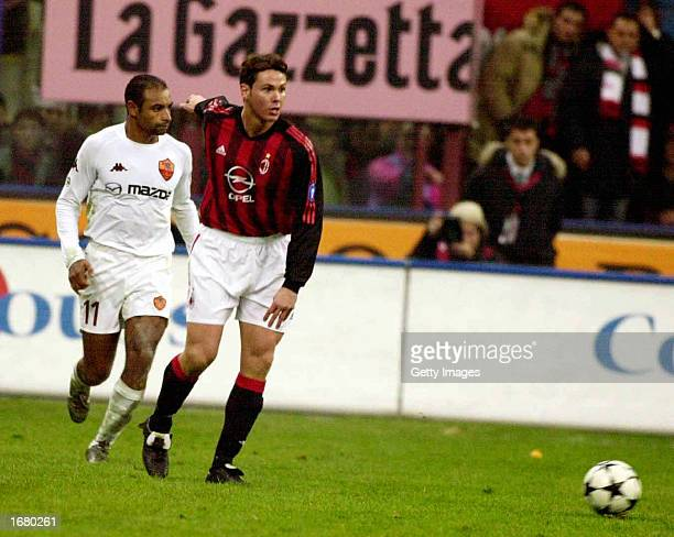 Fernando Redondo of AC Milan in action during the Serie A match between AC Milan and Roma played at the 'Giuseppe Meazza' San Siro Stadium Milan...