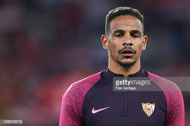 Fernando Reges of Sevilla FC looks on prior to the UEFA Europa League round of 32 second leg match between Sevilla FC and CFR Cluj at Estadio Ramon...