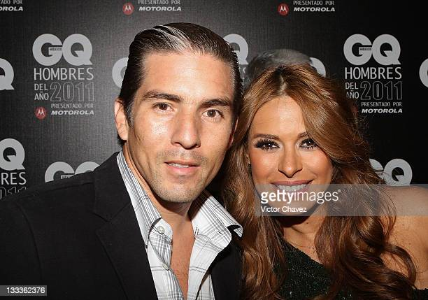 Fernando Reina and his wife Galilea Montijo attend the 2011 GQ Mexico Men of the Year at the Salon Arcos Bosques on November 17 2011 in Mexico City...