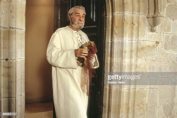 Fernando Rey at the shooting of ´La Marrana´ The actor a the shooting of Jose Luis Cuerda´s film