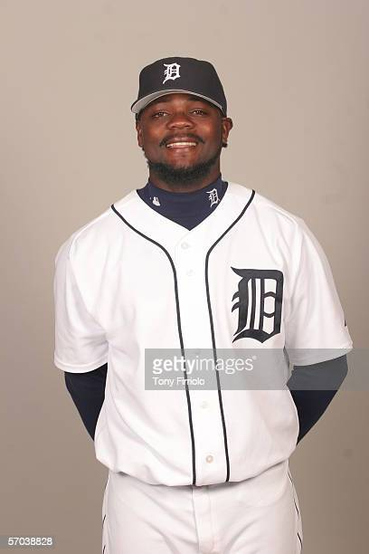 Fernando Rodney of the Detroit Tigers during photo day at Marchant Stadium on February 26 2006 in Lakeland Florida