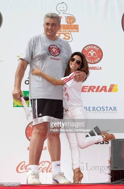 Fernando Romay and The Eva Longoria are seen at the Dynamic WalkaThon a charity long walk through the city of Marbella to raise money for Cesare...