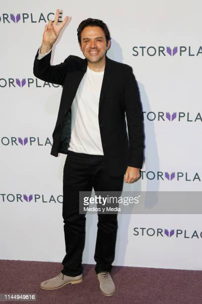 Fernando Rovzar poses for photos during 'Story Place' App Red Carpet on April 24 2019 in Mexico City Mexico