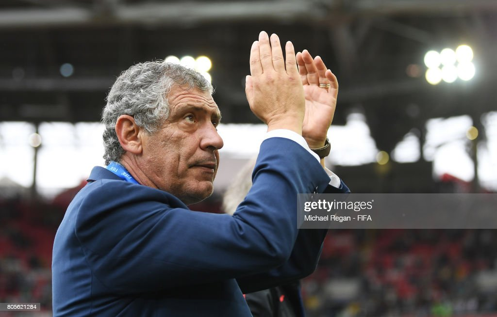 Fernando Santos head coach of Portugal shows appreciation to the fans after the FIFA Confederations Cup Russia 2017 Play-Off for Third Place between Portugal and Mexico at Spartak Stadium on July 2, 2017 in Moscow, Russia.
