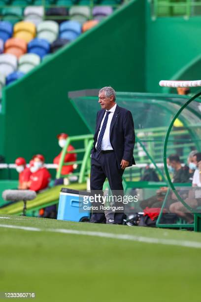 Fernando Santos of Portugal during the international friendly match between Portugal and Israel at Estadio Jose Alvalade on June 9, 2021 in Lisbon,...