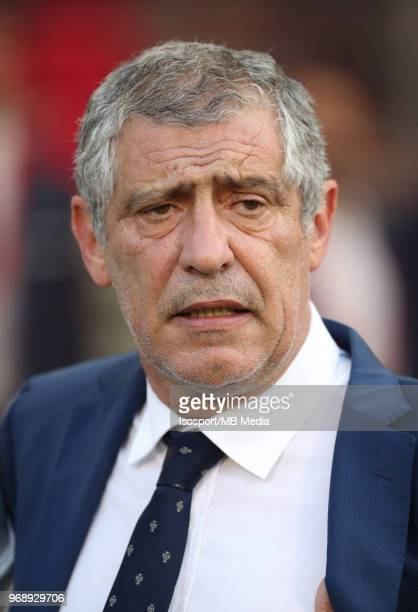 Fernando SANTOS pictured during a friendly game between Belgium and Portugal as part of preparations for the 2018 FIFA World Cup in Russia on June 2...
