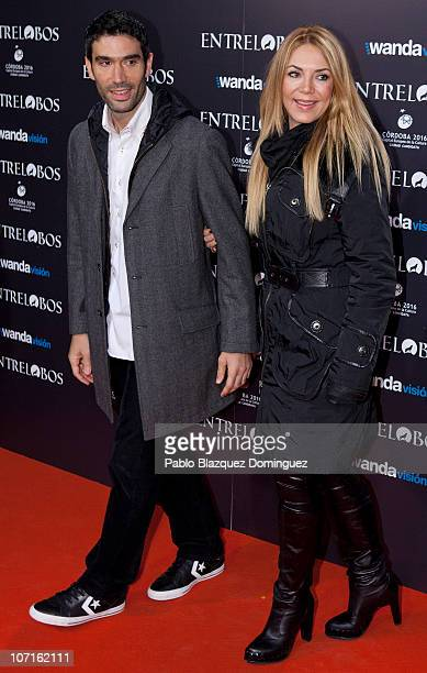 Fernando Sanz and Ingrid Asensio attend the 'Entrelobos' Premiere in Cine Capitol on November 25 2010 in Madrid Spain