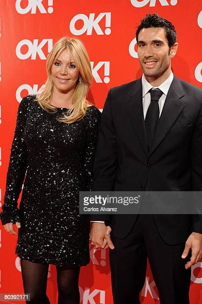 Fernando Sanz and wife Ingrid Asensio attend the OK Magazine Spain launch party on March 26 2008 at Pacha Club in Madrid Spain