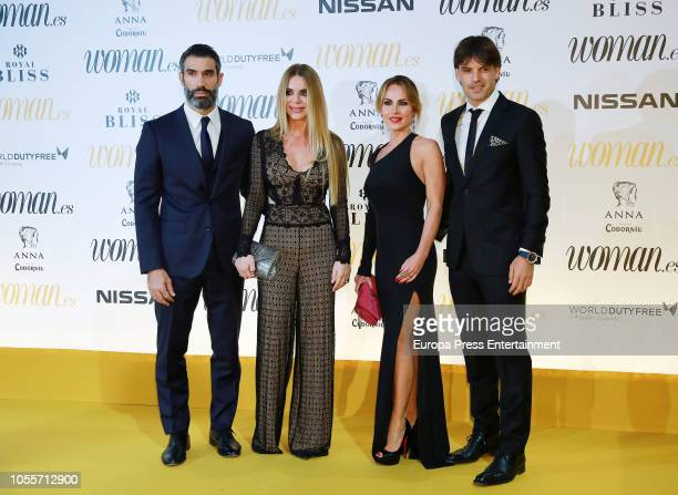 Fernando Sanz Ingrid Asensio Maria Victoria Lopez and Fernando Morientes attend the Woman Magazine Awards photocall at Madrid's Casino on October 30...