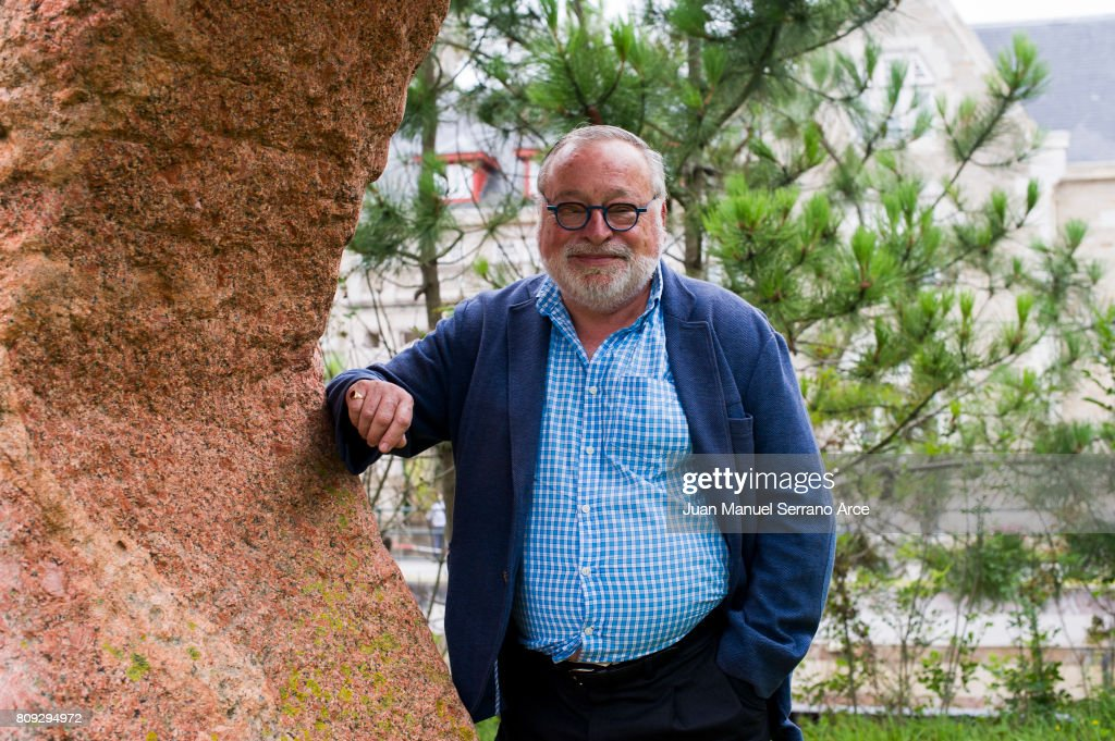Fernando Savater poses at the International Menendez Pelayo University on July 5, 2017 in Santander, Spain.